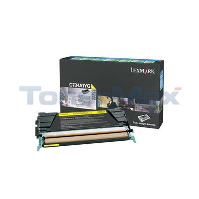 LEXMARK C734DN RP TONER CART YELLOW 6K